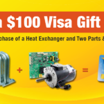 Get a $100 Gift Card with purchase of heat exchanger